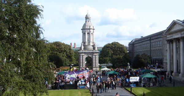 Front Square during Fresher's Week